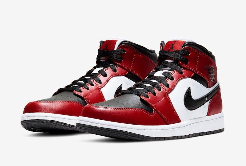 Air Jordan 1 Mid Chicago Toe 554724-069 Release Info UK 1
