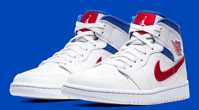 Air Jordan 1 Mid White University Red-Game Royal BQ6472-164 Release Info UK