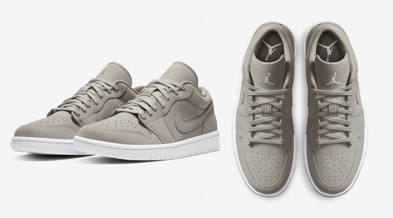"""Air Jordan 1 Low """"Grey Fog"""" - Now Available 