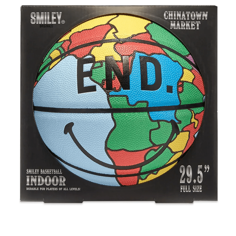 END x Chinatown Market Smiley Basketball 2