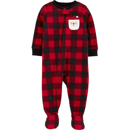 Pillow Talk Women/'s Red Plaid Hooded One-Piece Soft Plush Pajamas