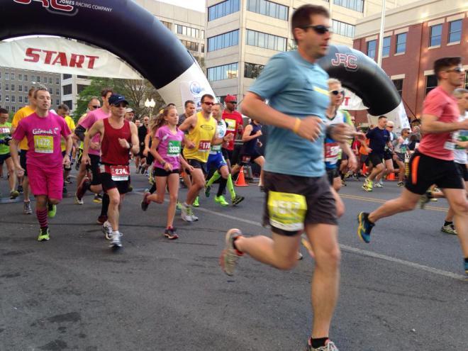 Blue Ridge Marathon Starting line