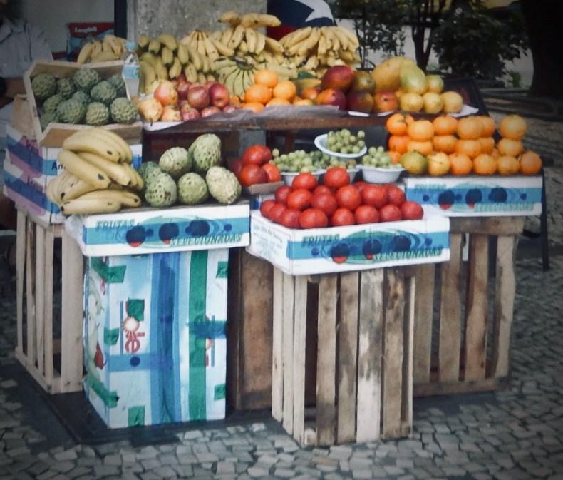 Brazilian fruit stall in Rio de Janeiro