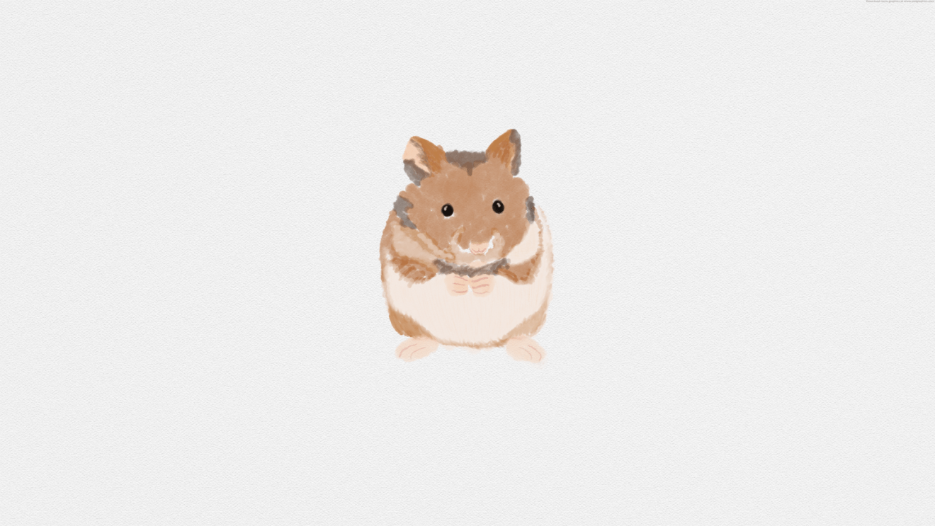 watercolour hamster painting