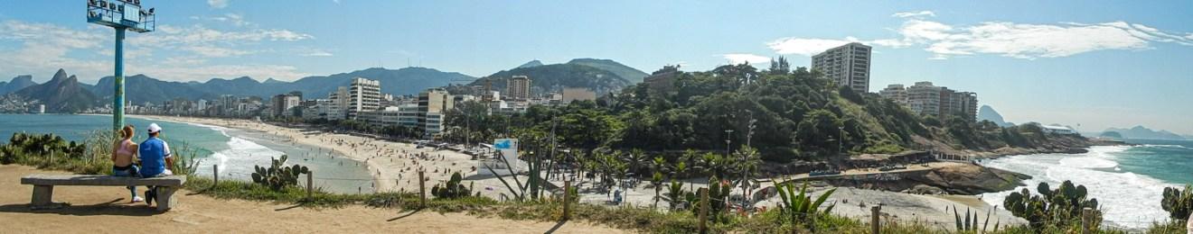Ipanema panorama in Rio de Janeiro