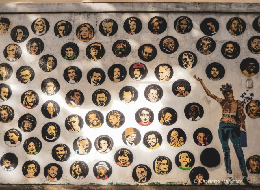 Working in Brazil wall of famous faces
