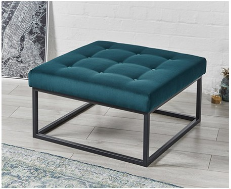 sale stuttgart shallow buttoned square metal ottoman footstools more