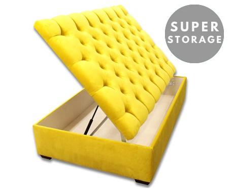 lexington super storage extra large buttoned storage ottoman