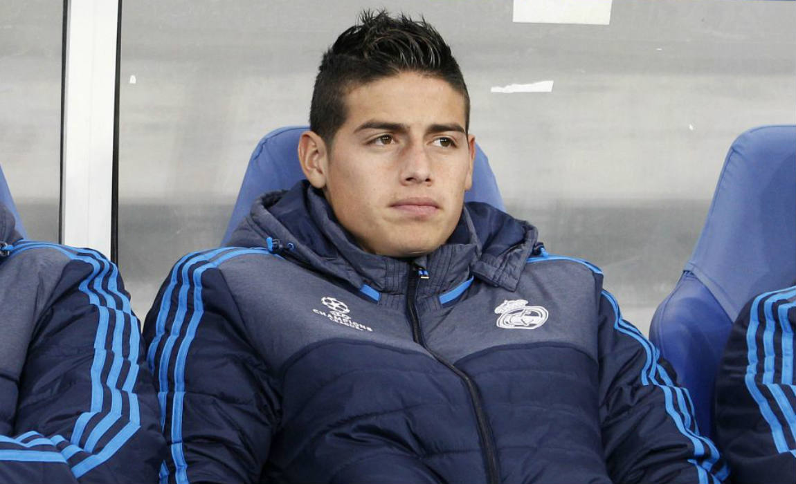 Image result for james rodriguez bench
