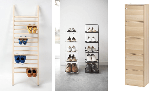 shoe rack for limited space narrow