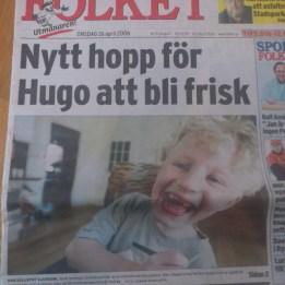 2006. Hugo i tidningen Folket den 26 april i samband med FOP genens upptäckt.