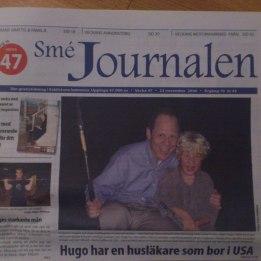 2006. Hugo & Dr Kaplan framsidan på Smejournalen i samband med FOP genens upptäckt.