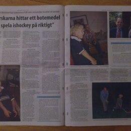 2006. Hugo & Dr Kaplan i Smejournalen i samband med FOP genens upptäckt