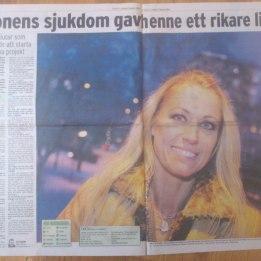 2009 Marie i tidningen Folket XL. Om att sluta som frisör och jobba med Hugo och FOP på heltid