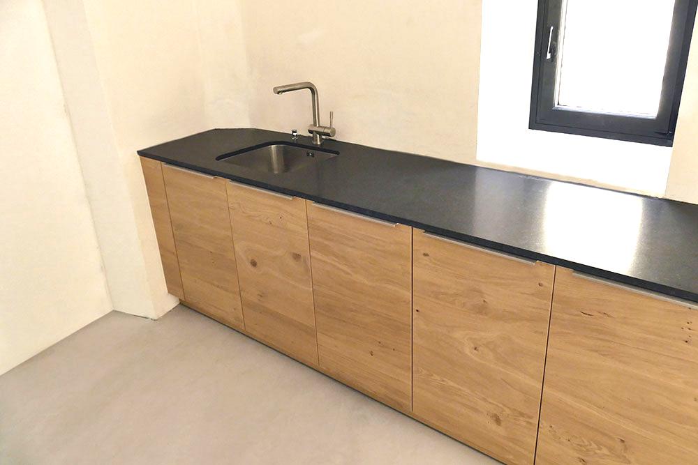 Cuisine lineaire en chene for interior living for Cuisine lineaire 4 metres