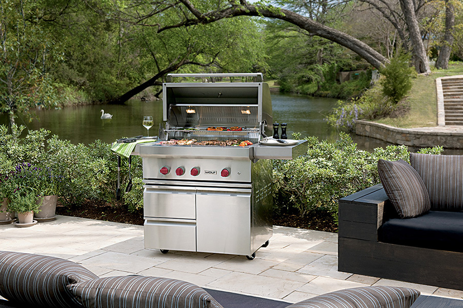 GRILL EXTERIEUR GAZ WOLF FOR INTERIOR LIVING