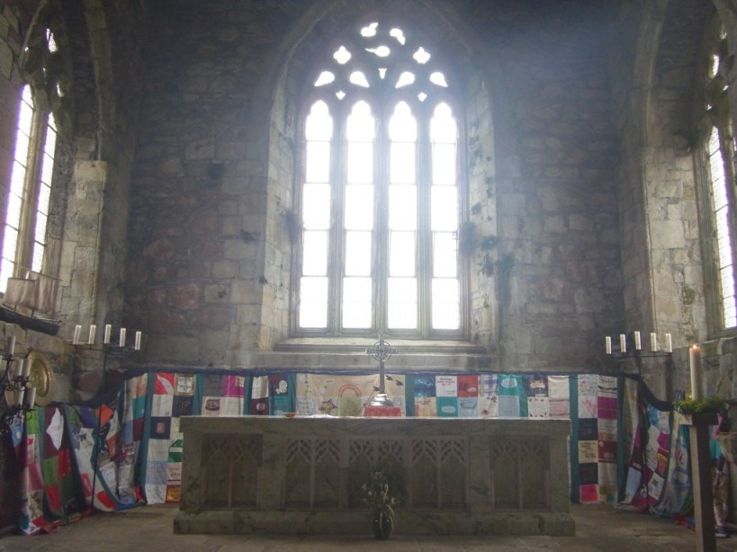 The quilt in Iona Abbey