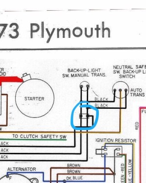 Neutral safety switch harness question specific to 1974 | For A Bodies Only Mopar Forum