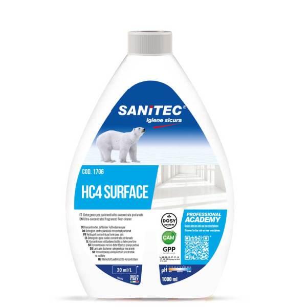 detergente pavimenti liquido ultra concentrato da diluire in acqua in flacone da 1000 ml HC4 surface codice 1706