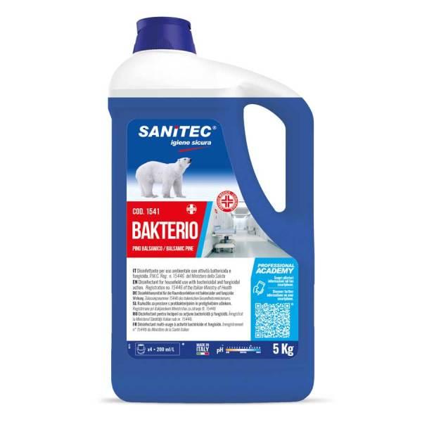 detergente disinfettante per pavimenti liquido al profumo balsamico in tanica da 5 lt bakterio codice 1541