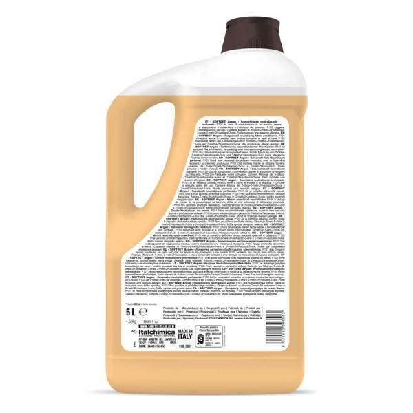 sanitec ammorbidente liquido con antinfeltrente- in tanicada 5 lt softdet argan codice 2061