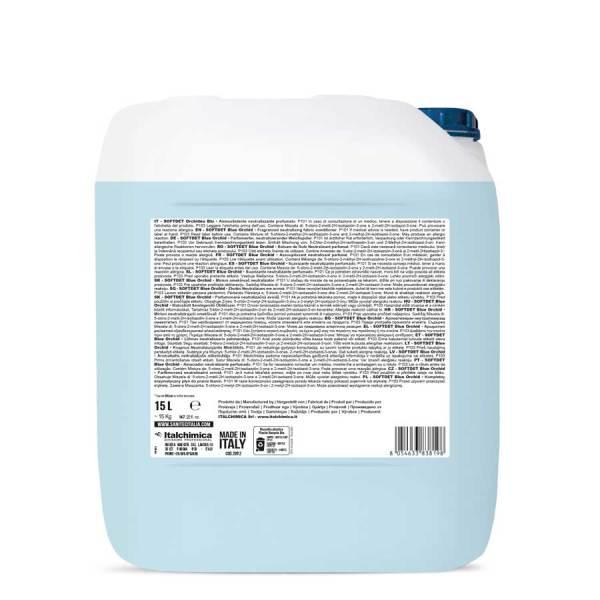 sanitec ammorbidente orchidea blu liquido con antinfeltrente in tanica da 15 lt softdet blue orchid codice 2092