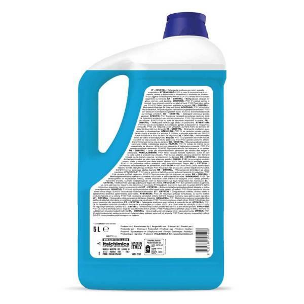 sanitec detergente multiuso per vetri specchi e spolvero antialone h.a.c.c.p. in tanica da 5 lt crystal antialone codice 2261