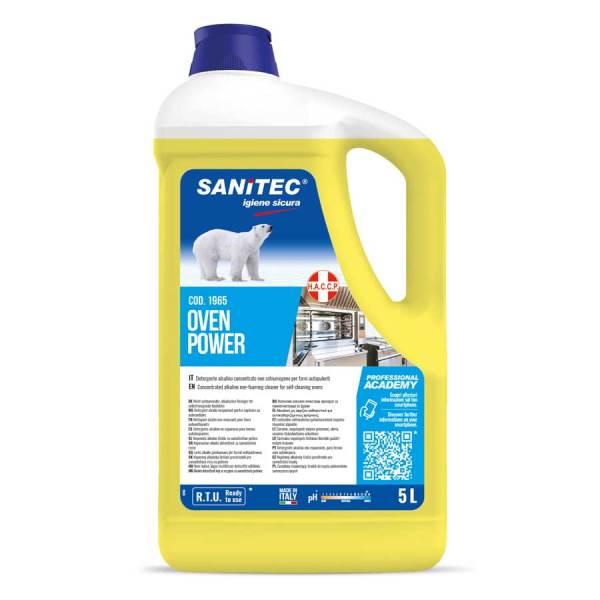 sanitec detergente sgrassante per forni ad uso professionale h.a.c.c.p. in tanica da 5 lt oven power codice 1965
