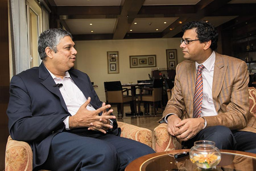 S Naren (L), chief investment officer, ICICI Prudential Asset Management in coversation with doctor-writer Atul Gawande