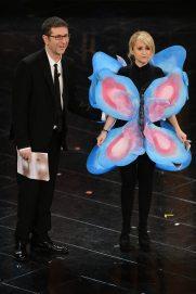 Fabio Fazio e Luciana Littizzetto con la farfallina   © Daniele Venturelli / Getty Images