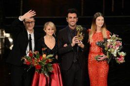 Fabio fazio, Luciana Littizzetto, Marco Mengoni e Bianca Balti   © Daniele Venturelli / Getty Images