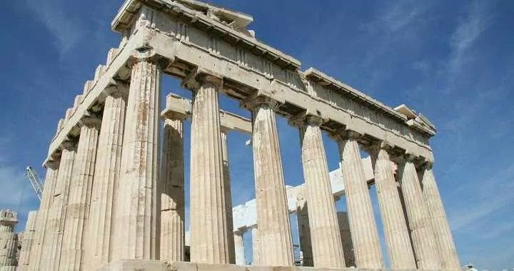Remains of the Acropolis in Athens Greece Europe