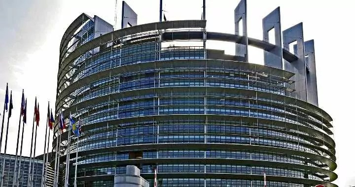 Official seat of the European Parliament in Strasbourg France