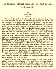 W. T. Preyer's article 'Animal magnetism and mediumism once and today' (in 'Deutsche Rundschau', 1878).