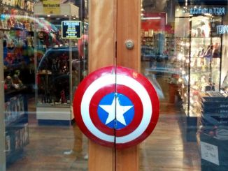 Forbidden Planet Captain America Door Handle shield Cory Doctorow