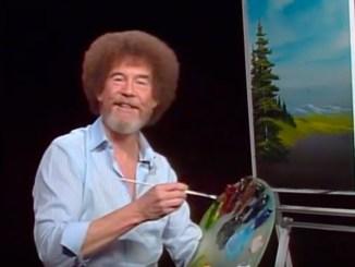 Bob Ross, man myth legend, happy trees joy of painting