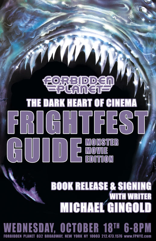 Michael Gingold signing at Forbidden Planet NYC Frightfest Guide