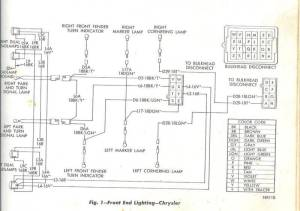 68 Chrysler 300 Engine and headlight motor wiring diagram