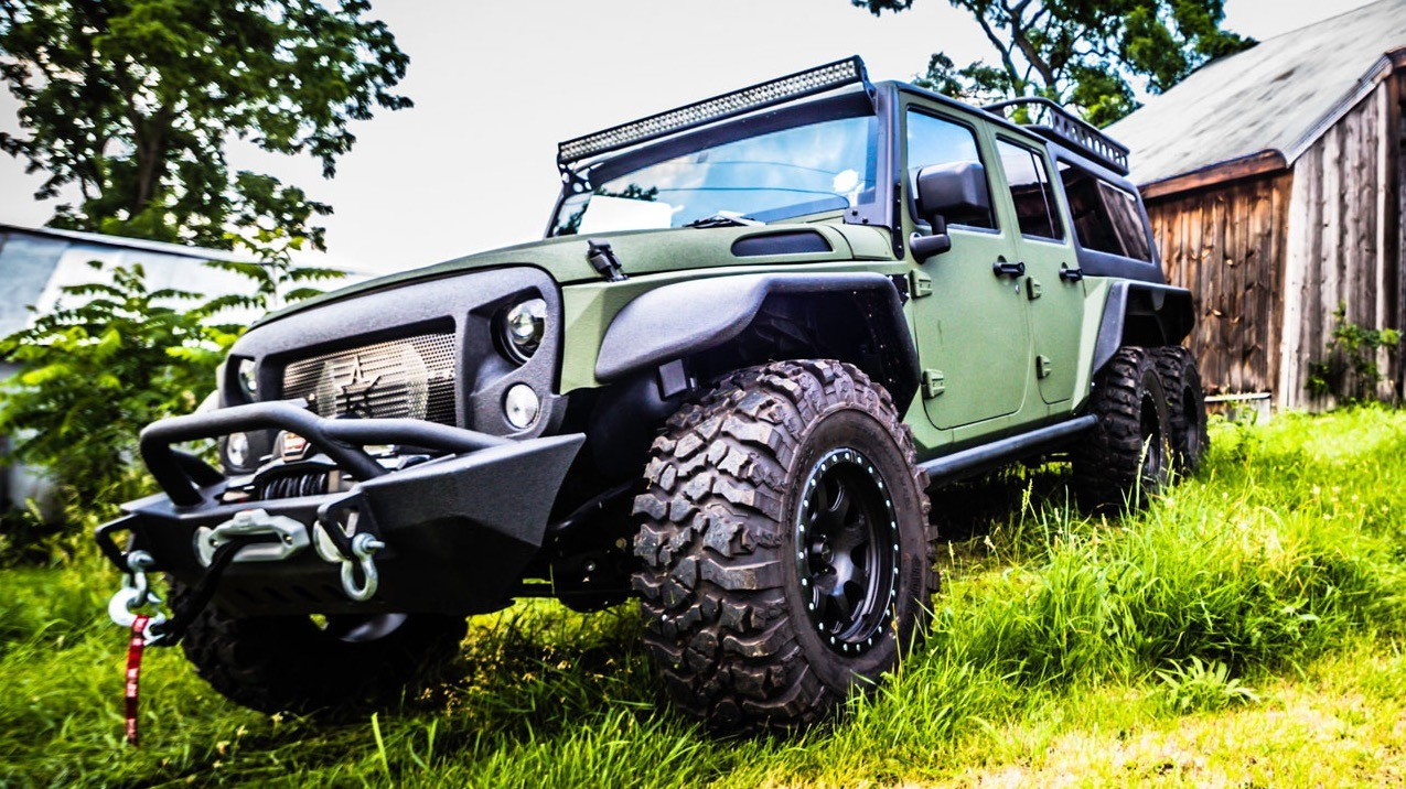 Chinese Company G Patton Builds Jeep Wrangler 6x6