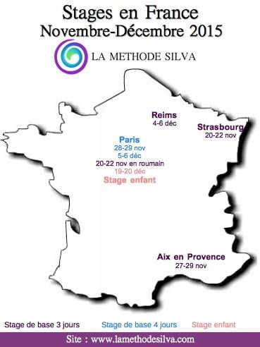Stages méthode Silva Nov Dec 2015