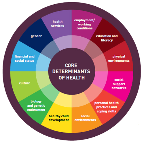 Core determinants of health