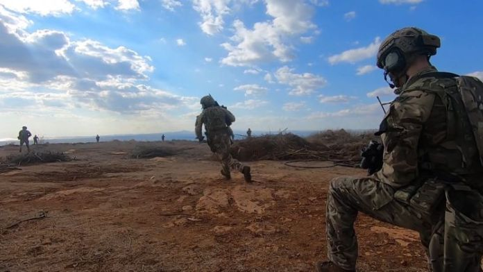 40 Commando Bravo Company from Royal Marines test new Future Commando Force 12-man teams in Cyprus ranges on LRGX November 2020 DATE UNKNOWN CREDIT BFBS.jpg
