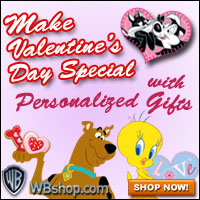 CONTEST!!!  Win a PERSONALIZED VALENTINE'S DAY Gift From The WBshop.com!