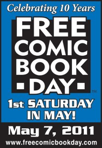 Countdown to FREE COMIC BOOK DAY — It's tomorrow!!!!!!