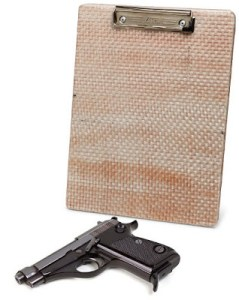 ROUGH DAY AT THE OFFICE? Well, With Your New Bulletproof Clipboard At Least You'll Know You Will Make It Through The Office Meeting Alive