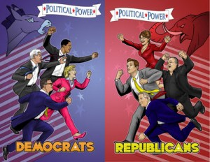 Bluewater compiles their POLITICAL POWER series and lets them fight it out Superfriends style!