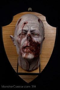 ZOMBIE HEAD TROPHY WILL LOOK PRETTY IN YOUR DINING ROOM
