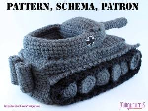 CROCHET YOURSELF A PAIR OF Tiger 1 Tank-Panzer Slippers…'Cause Winter be Cold
