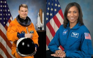 Astronauts Stanley Love (left) and Jeanette Epps (right)