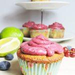 Cupcake al lime e frutti di bosco